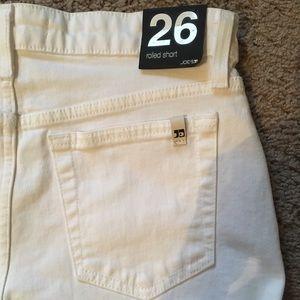 "Joe's Jeans Shorts - Women Joe's Jeans White Denim ""The Rolled Short"""